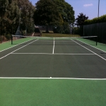 Tennis Court Painting in Midlothian 4