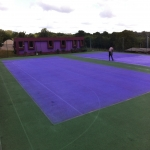 Tennis Court Painting in Midlothian 9