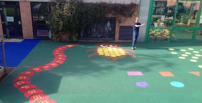 Wetpour Playground Graphics in Abbotsleigh