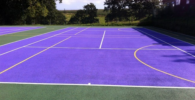 Tennis Court Paint in Ablington