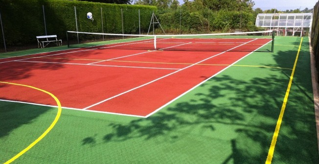 Sports Court Painting in Aberangell